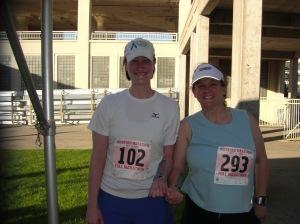 Erin and Cheryl - before the big run