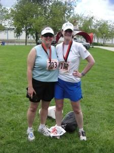 Cheryl and Erin - post run